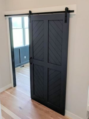 four panel diamond barn door
