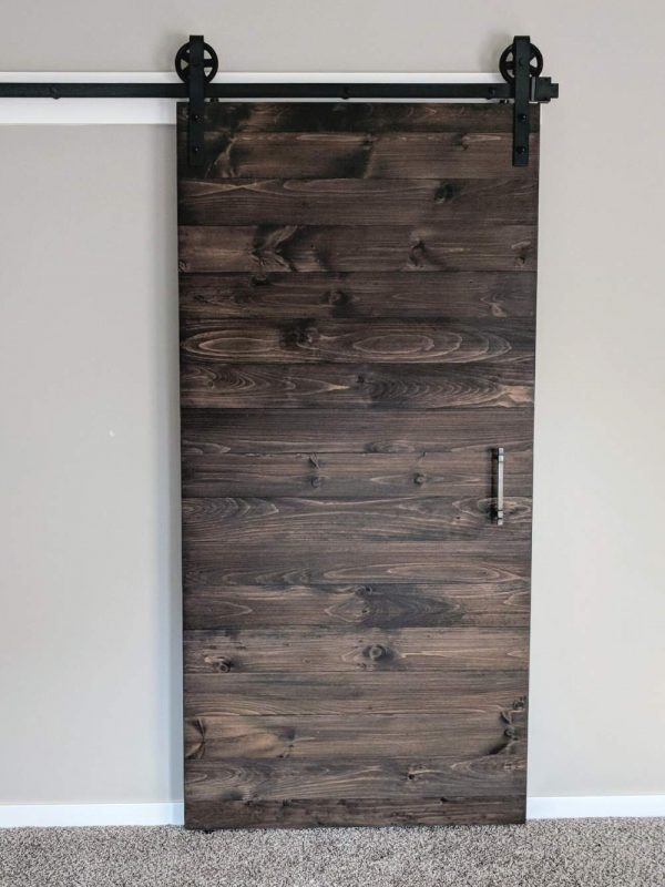 Horizontal Plank Sliding Barn Door