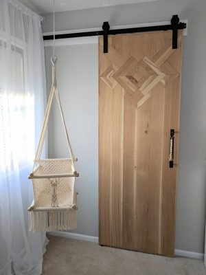macrame barn door