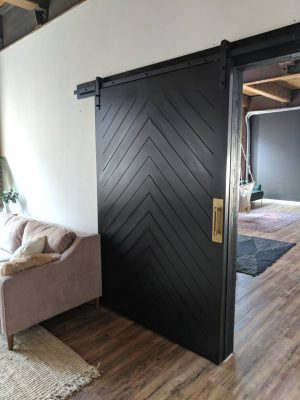 painted chevron barn door